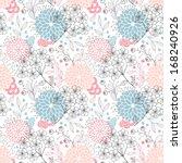 seamless floral pattern | Shutterstock .eps vector #168240926