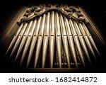 Historic Pipe Organ At A Church
