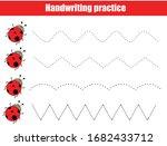 funny ladybugs. handwriting...   Shutterstock .eps vector #1682433712