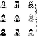 silhouette of people icon... | Shutterstock .eps vector #168243575