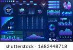 blue violet vector hud set in...