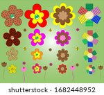 beautiful multi color flowers   ... | Shutterstock .eps vector #1682448952