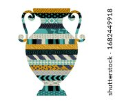 illustration with a vase....   Shutterstock .eps vector #1682449918