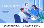 financial advisor sitting at... | Shutterstock .eps vector #1682451442