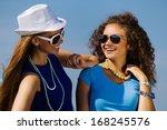 attractive young women having... | Shutterstock . vector #168245576