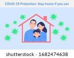 coronavirus covid 19 protection ... | Shutterstock .eps vector #1682474638