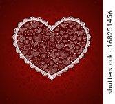 valentine's day card.    Shutterstock .eps vector #168251456