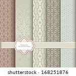 seamless pattern set in retro... | Shutterstock .eps vector #168251876