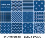 classic blue seamless pattern...   Shutterstock .eps vector #1682519302