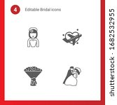 4 bridal filled icons set... | Shutterstock .eps vector #1682532955