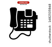telephone icon or logo isolated ...