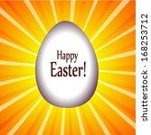 happy easter  lights egg.... | Shutterstock .eps vector #168253712