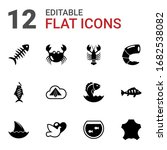 12 animal filled icons set... | Shutterstock .eps vector #1682538082
