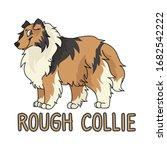 cute cartoon rough collie dog...   Shutterstock .eps vector #1682542222