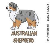 cute cartoon australian...   Shutterstock .eps vector #1682542225