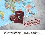 coronavirus effect on airline...   Shutterstock . vector #1682550982