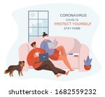 during coronavirus stay home... | Shutterstock .eps vector #1682559232