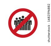 no crowd icon. avoid crowded...   Shutterstock .eps vector #1682596882