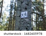 Wooden Hiking Trail Signs...
