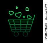 shopping cart with heart nolan...