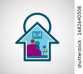 i stay at home awareness social ...   Shutterstock .eps vector #1682640508