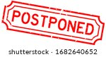 grunge red postponed word... | Shutterstock .eps vector #1682640652