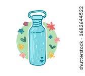 reusable stainless bottle for... | Shutterstock .eps vector #1682644522