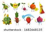 cartoon superheroes. fruits in...   Shutterstock .eps vector #1682668135