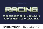 green racing chrome sports...   Shutterstock .eps vector #1682669212