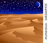vector illustration. night... | Shutterstock .eps vector #1682669935