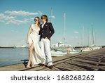 fashion model in lace dress... | Shutterstock . vector #168268262