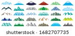 mountain icon set of various... | Shutterstock .eps vector #1682707735