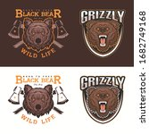 bear head logo badge... | Shutterstock .eps vector #1682749168