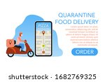 quarantine food delivery face... | Shutterstock .eps vector #1682769325