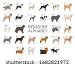 doggish alphabet for dog lovers.... | Shutterstock .eps vector #1682821972