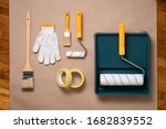 painting tools and materials.... | Shutterstock . vector #1682839552