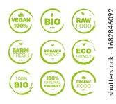 fresh healthy organic vegan...   Shutterstock .eps vector #1682846092