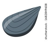 mussel clam icon. isometric of...   Shutterstock .eps vector #1682849608