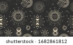 vector illustration set of moon ... | Shutterstock .eps vector #1682861812