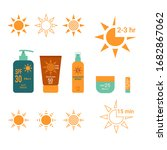 sun protection. time interval...   Shutterstock .eps vector #1682867062
