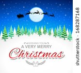 winter holidays card  esp w file   Shutterstock .eps vector #168287168