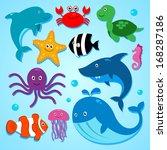 vector illustration of cute... | Shutterstock .eps vector #168287186