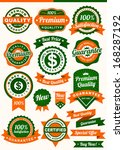 set of badges and ribbon  esp w ... | Shutterstock .eps vector #168287192