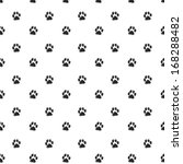 traces of cat textile pattern.... | Shutterstock .eps vector #168288482