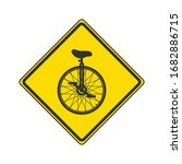 caution unicycling icon....
