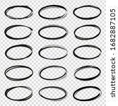 set of hand drawn circles... | Shutterstock .eps vector #1682887105