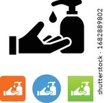 hand with soap dispenser icon | Shutterstock .eps vector #1682889802