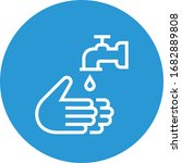 hands washing with faucet... | Shutterstock .eps vector #1682889808