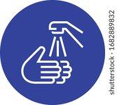 hands washing sink faucet... | Shutterstock .eps vector #1682889832