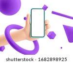 3d illustration. cartoon hand... | Shutterstock . vector #1682898925